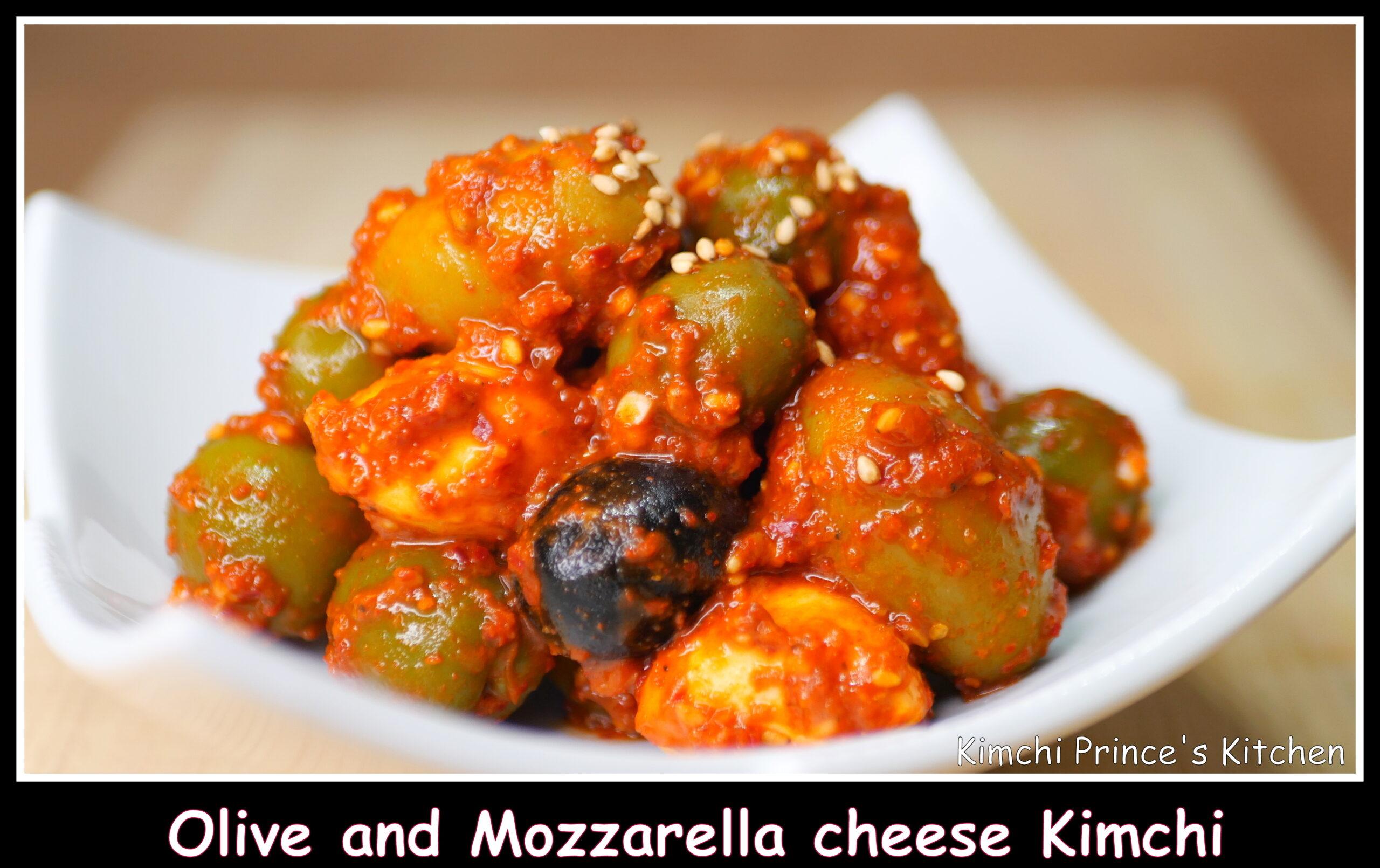 Olive and mozzarella cheese kimchi